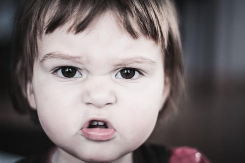 Human being Child Girl To talk Head Infancy Baby Toddler Scream Aggression 0 - 12 months Grumble Button eyes