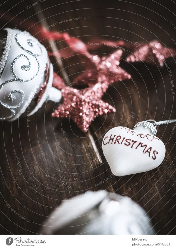 christmas time Wood Glass Metal Sign Characters Near Red Christmas & Advent Christmas decoration Decoration Heart Heart-shaped Sphere Glitter Ball Star (Symbol)