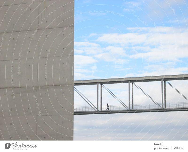Sky Loneliness Cold Architecture Lanes & trails Berlin Business Above Design Elegant Modern Success Concrete Bridge Connection Meeting