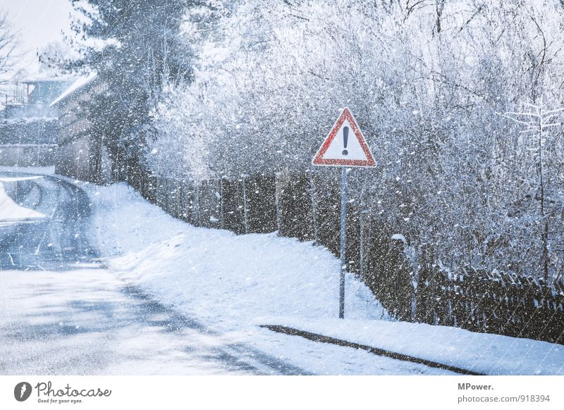 ! Transport Traffic infrastructure Street Road sign Cold Signage Snowfall Fence Winter Smoothness Snowflake Black & white photo Exterior shot Deserted Day