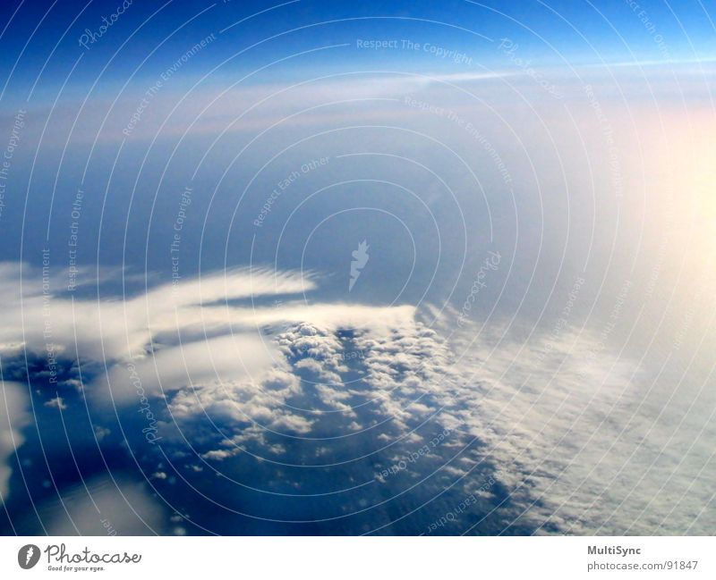 Sky Ocean Vacation & Travel Clouds Aviation Island Universe Iceland View from the airplane