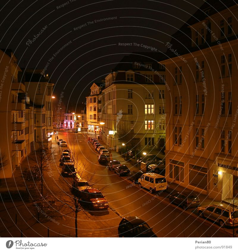 night live Night House (Residential Structure) Light Window Calm Traffic infrastructure Street Car DRI