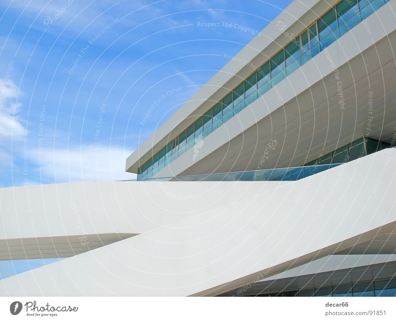 Veles e Vents II Sky Modern Media Blue Glass Minimal White lines straight Valencia minimalism architecture sailing America cup building