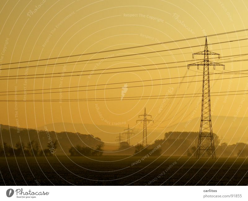 Sky Green Vacation & Travel Joy Clouds Grass Horizon Field Fog Energy industry Electricity Rope Hope Cable Services Electricity pylon