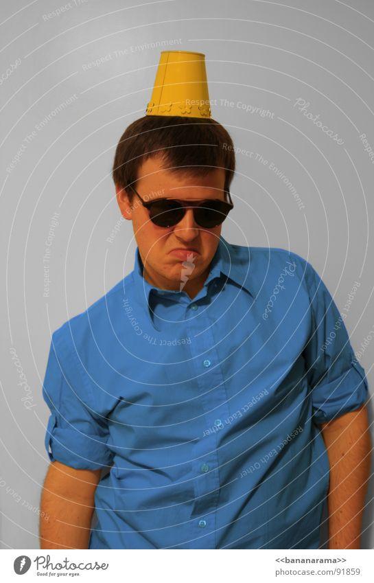 Man Blue Joy Yellow Cool (slang) Eyeglasses Carnival Shirt Row Clown Mug Acrobat Childrens birthsday Happy Birthday Sheik