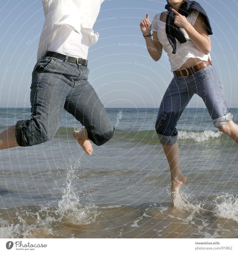 Water Sun Ocean Summer Joy Beach Jump Happy Feet Lake Sand Wet Spain South Enthusiasm Salt