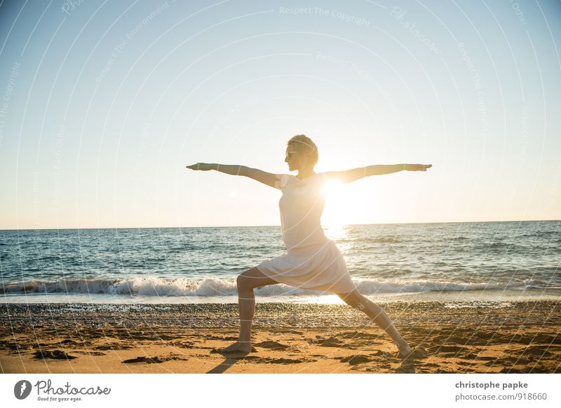 Sun salutation V Life Harmonious Well-being Contentment Relaxation Meditation Leisure and hobbies Vacation & Travel Summer Summer vacation Beach Ocean Sports