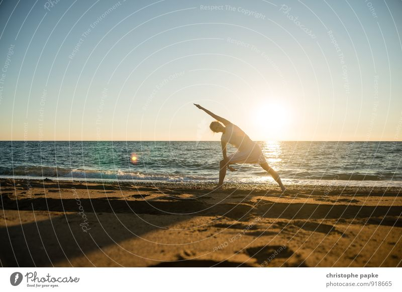 Sun salutation VII Life Harmonious Well-being Contentment Relaxation Meditation Leisure and hobbies Vacation & Travel Summer Summer vacation Beach Ocean Sports