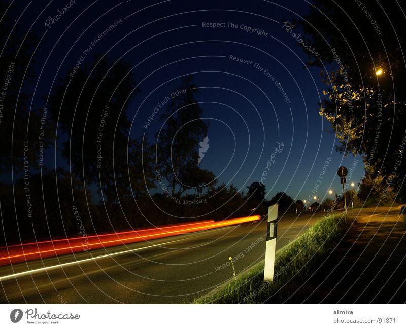 Sky Blue Tree Loneliness Calm Street Dark Landscape Freedom Car Lamp Moody Germany Fear Speed Dangerous