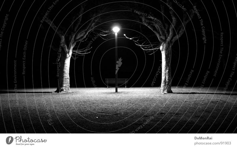 Photon junkies. Reloaded Black & white photo Exterior shot Deserted Copy Space left Copy Space right Copy Space bottom Night Artificial light Light Shadow