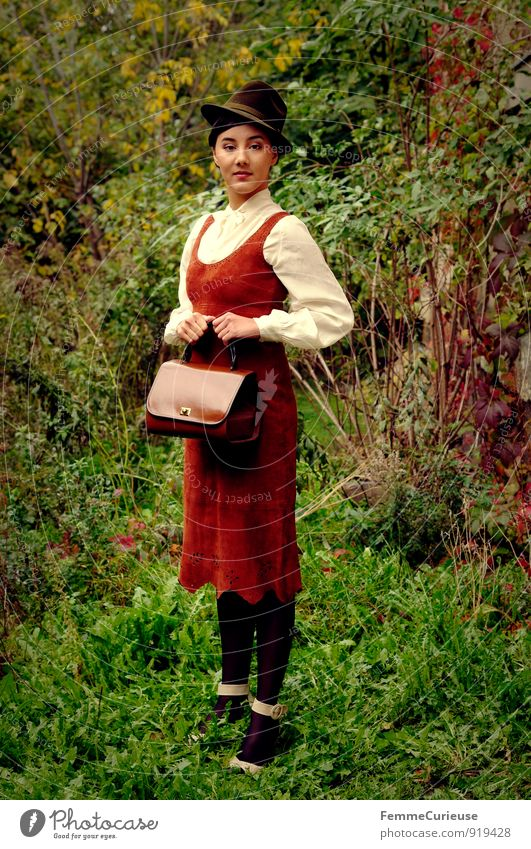 Fräulein_01 Beautiful Feminine Young woman Youth (Young adults) Woman Adults Human being 18 - 30 years Nature Young lady Elegant Chic Fine Handbag Twenties
