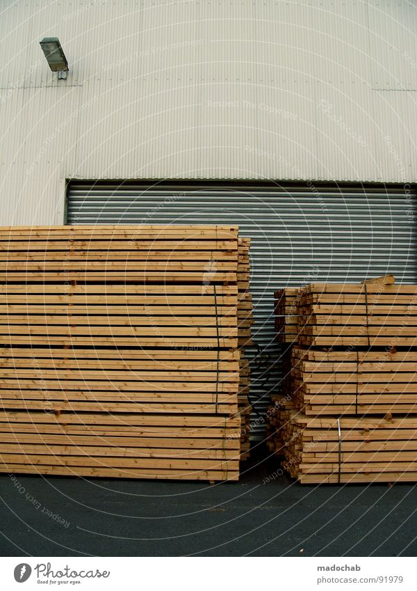 === Wood Logistics Raw materials and fuels Wood flour Industry Boredom Craft (trade) Wooden board Stack Storage