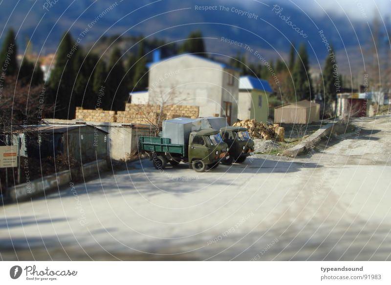 Green Transport Construction site Toys Truck Miniature Model-making Tilt-Shift Soviet Union Transporter
