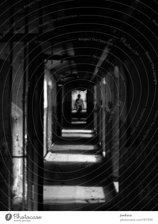 jailbreak Style 1 Human being Tunnel Threat Dark Black Moody Dangerous No admittance Password Access authorization Barbed wire Vanishing point Entrance Alarm