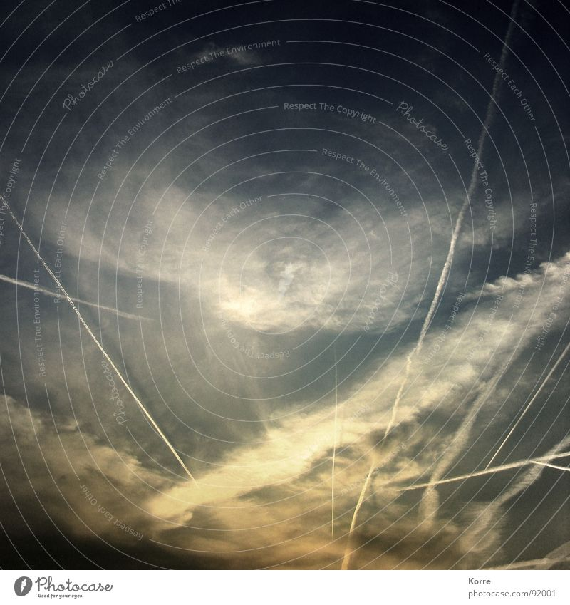 Nature Sky Vacation & Travel Life Airplane Flying Aviation Vantage point Universe Wanderlust Dusk Heavenly Worm's-eye view Vapor trail Canopy (sky) Air pollution