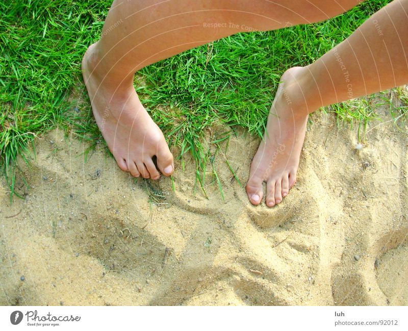 Green Beautiful Summer Beach Loneliness Emotions Grass Sand Jump Garden Earth Legs Feet Skin Free