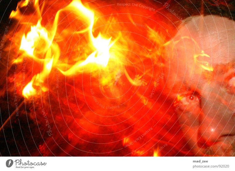 Fire expirience 01 Red Yellow Swirl Abstract Blaze dani Orange