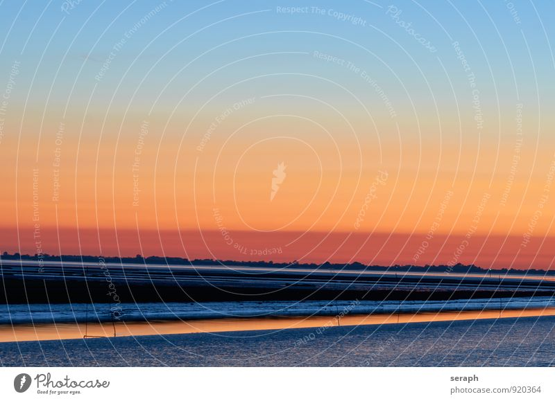 North Sea Sky Nature Water Ocean Landscape Calm Environment Background picture Waves Elements Dusk Atmosphere World heritage Channel Scene