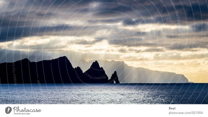 Sky Water Summer Sun Ocean Landscape Clouds Dark Coast Rock Horizon Weather Fog Illuminate Island Beautiful weather