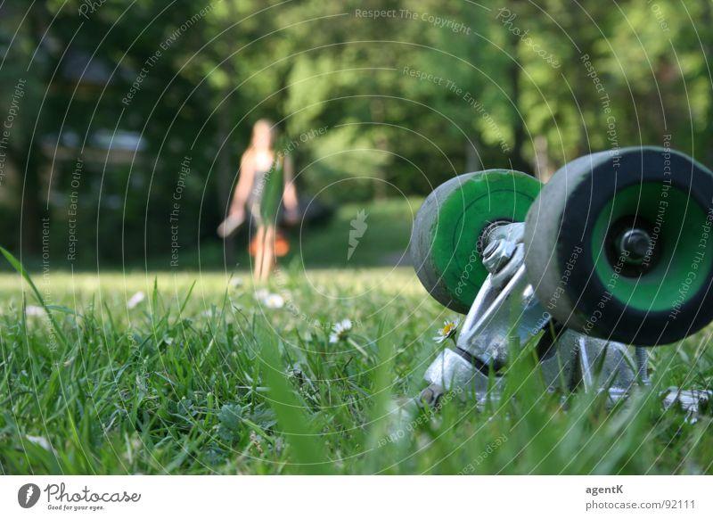 Human being Green Summer Meadow Skateboarding Coil Axle