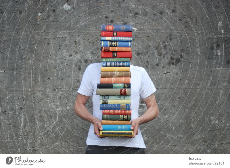 to learn, to learn, to pomp Academic studies Study Reading High School Book Encyclopedia Bookshop Library Lift 21 Wall (building) Concrete Clever Spirited