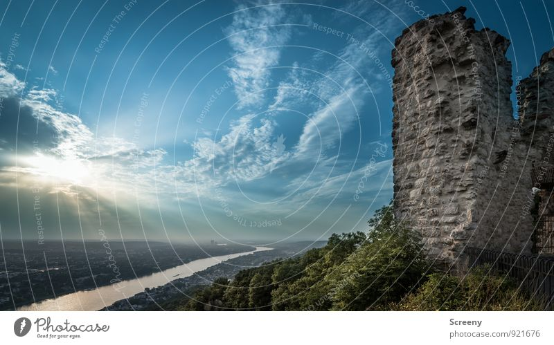 Sky Nature Old City Plant Summer Sun Landscape Clouds Horizon Germany Power Tourism Bushes Tall Trip