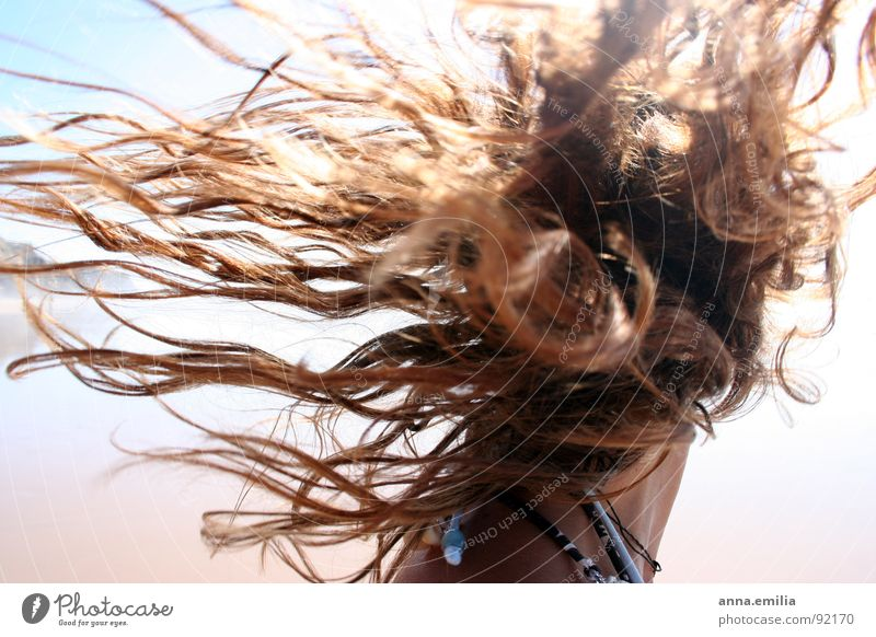 Sun Ocean Joy Beach Hair and hairstyles Waves Wind Portugal