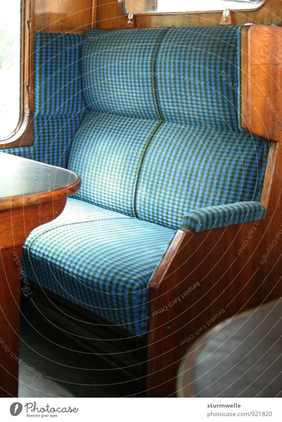 An empty bench in an old train compartment Transport Means of transport Passenger traffic Public transit Train travel Rail transport Railroad Steamlocomotive