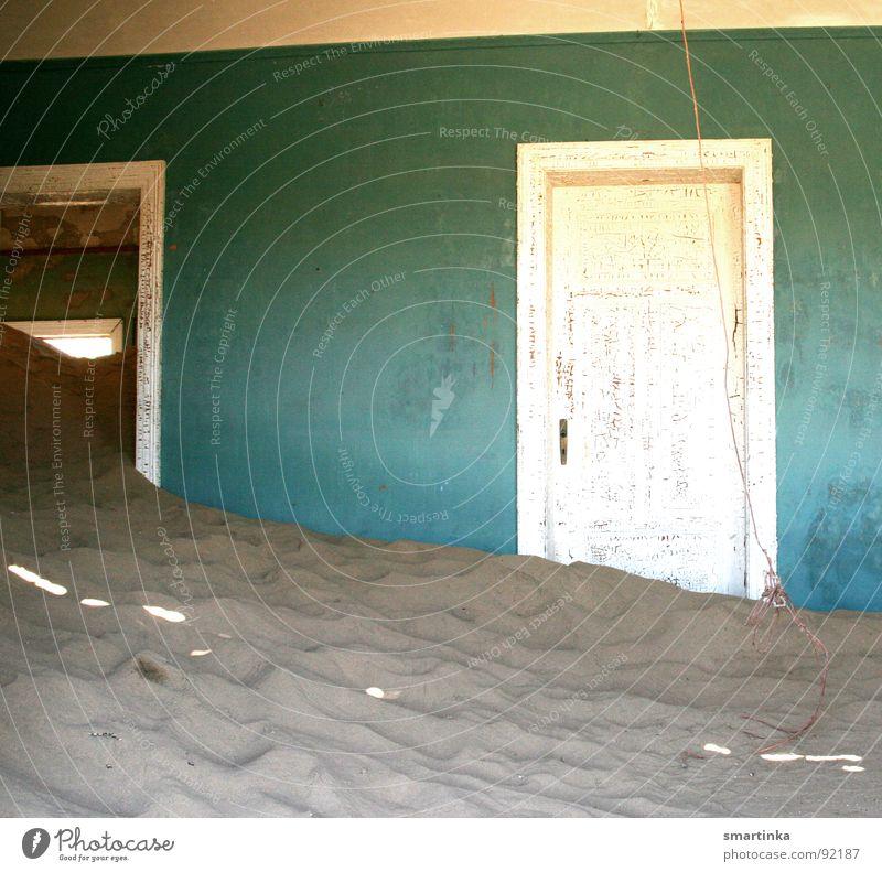 Sand Desert Decline Monument Ruin Landmark Namibia Ghost town Luderitz