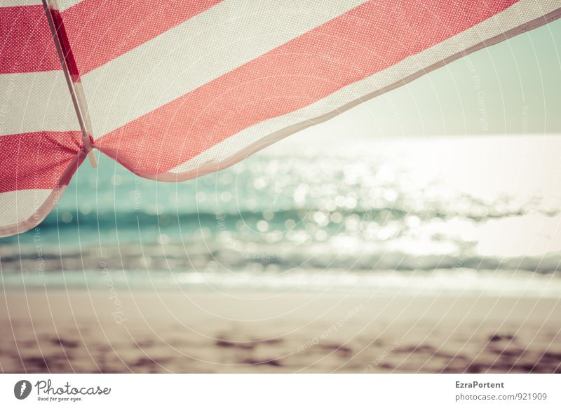 Sky Nature Vacation & Travel Blue White Summer Sun Relaxation Ocean Red Landscape Calm Beach Warmth Coast Line