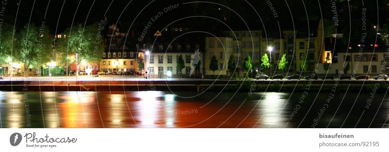 City House (Residential Structure) Colour Germany River River bank Night shot Heidelberg Neckar