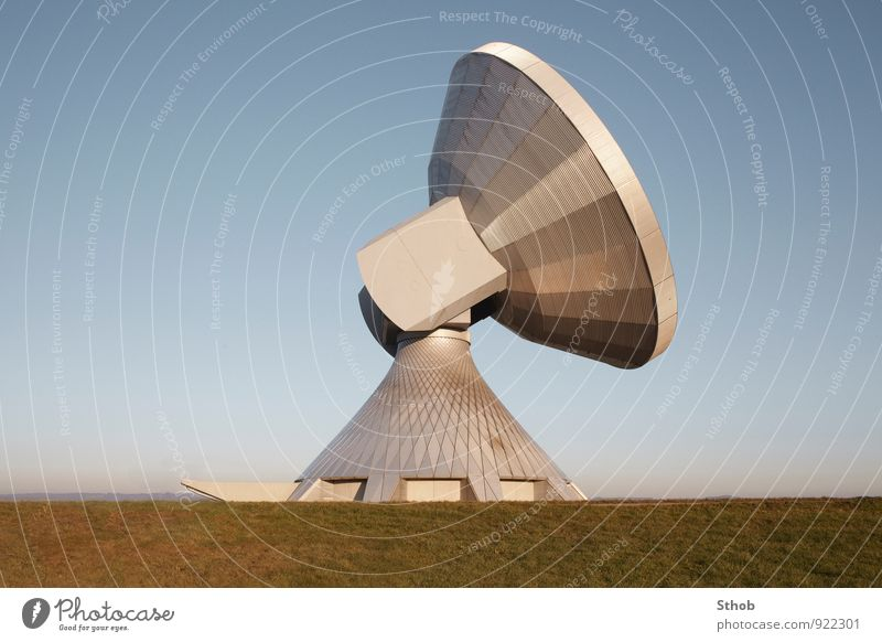 satellite Industry Science & Research High-tech Telecommunications Information Technology Aviation Astronautics Sky Cloudless sky Meadow Industrial plant