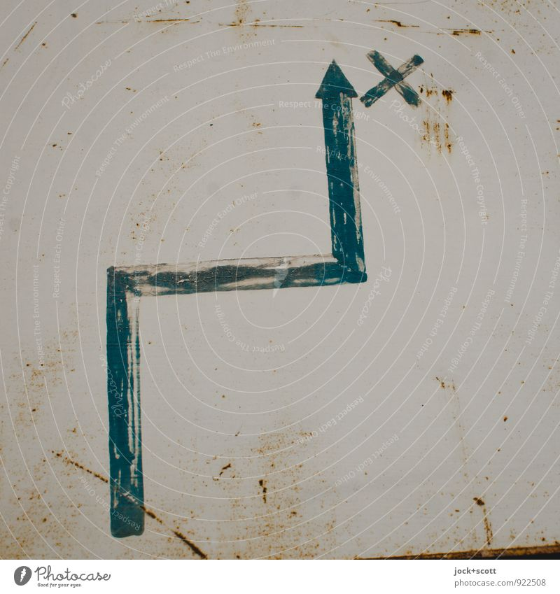 Lanes & trails Line Metal Authentic Corner Beginning Signage Retro Illustration Help Planning Mysterious Target Past Arrow Rust