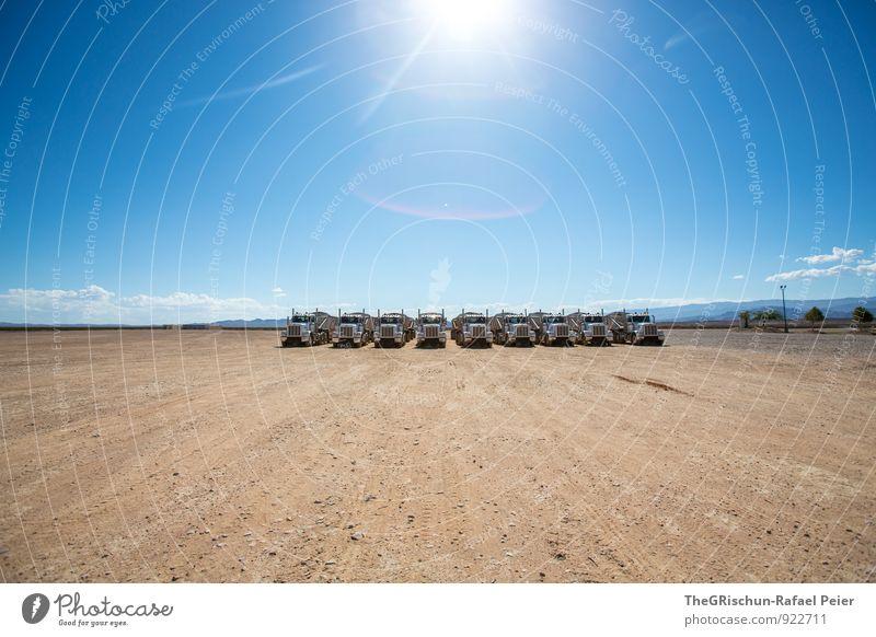 Blue Heaven Clouds Black Car Window Brown Transport Force Desert Silver Truck American Flag Dust 9 Stony Dusty