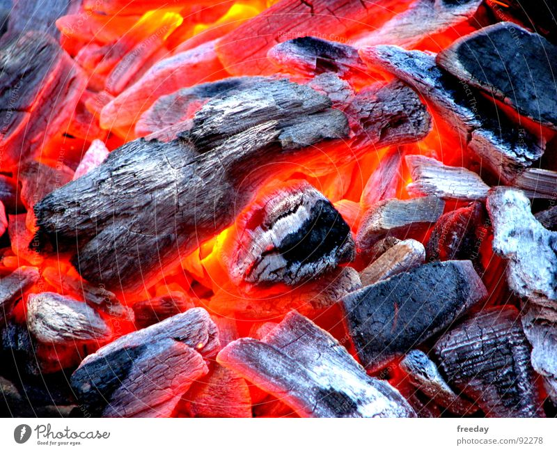 Red Colour Coal Warmth Bright Blaze Fire Energy industry Physics Hot Smoke Barbecue (event) Burn Cozy Flame Carbon dioxide
