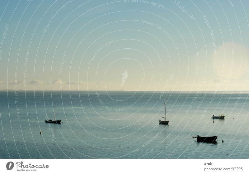 Water Sky Ocean Blue Calm Clouds Watercraft Bright Moody Horizon Bay Baltic Sea Progress