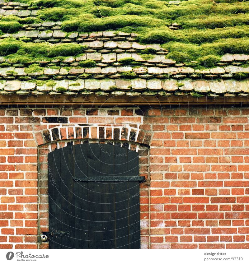 Old House (Residential Structure) Wood Stone Door Roof Brick Hut Wood flour Cottage