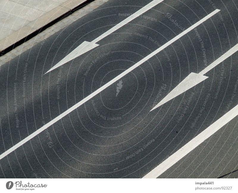 White Black Street Line Power Force Floor covering Asphalt Arrow Traffic infrastructure Double exposure