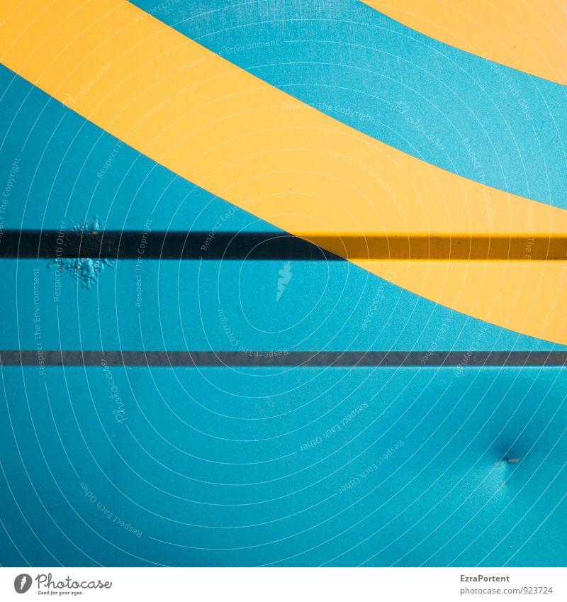 Sun & Sea Ocean Transport Metal Sign Line Stripe Blue Yellow Design Colour Vacation & Travel Car body Bulge Illustration Graph Graphic Colour photo