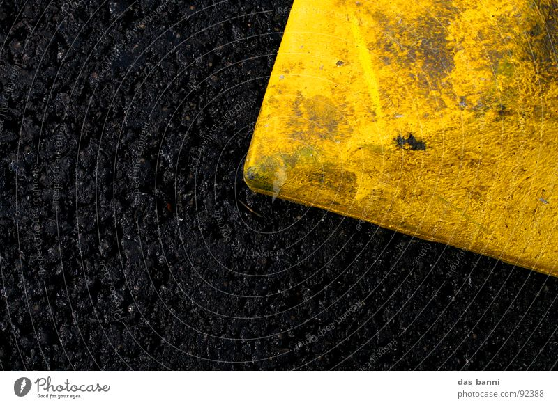 Black Yellow Environment Above Style Art Dirty Design Transport Modern Dangerous Stand Floor covering Threat Construction site Decoration