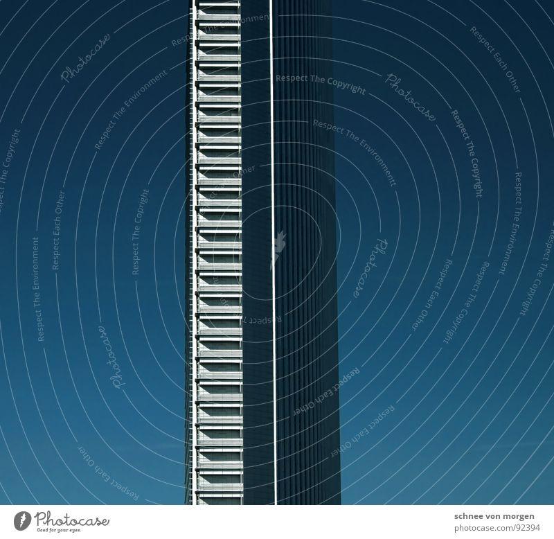 Sky Blue High-rise Tall Monument Frankfurt Landmark Vertical