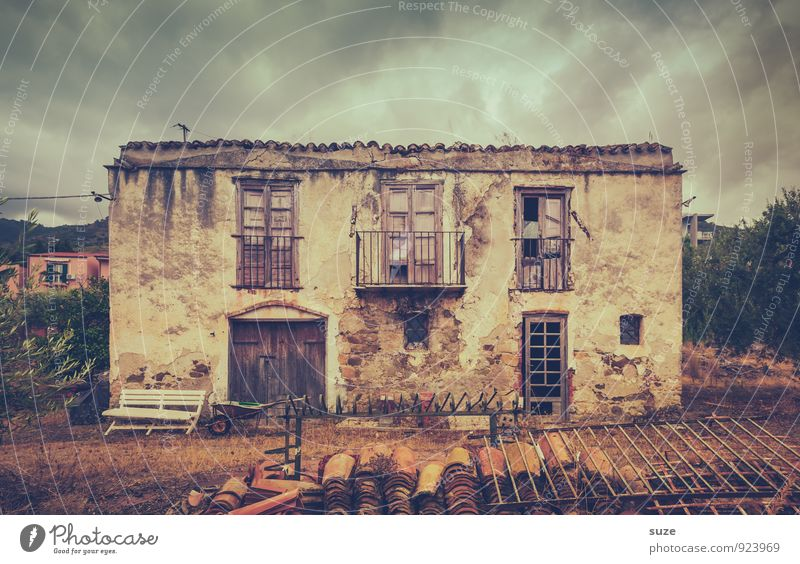 Nature Old Loneliness Dark Window Architecture Building Brown Facade Dirty Gloomy Door Authentic Broken Transience Italy