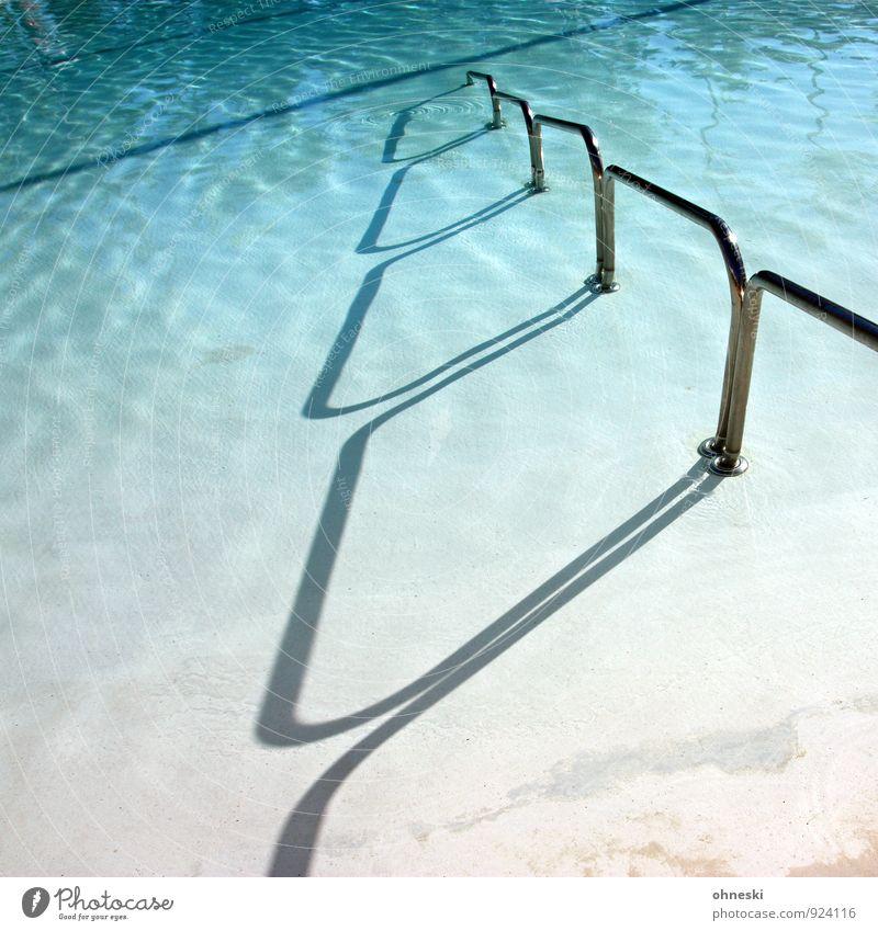 pool passage Wellness Relaxation Spa Summer vacation Sunbathing Aquatics Swimming & Bathing Swimming pool Water Handrail Blue Vacation & Travel Colour photo