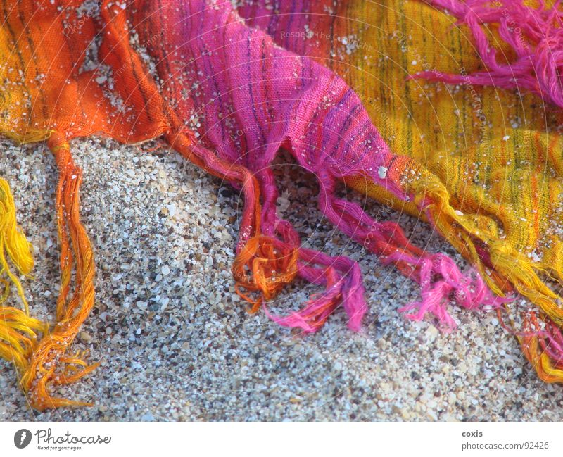 Summer Beach Yellow Sand Orange Pink Clothing