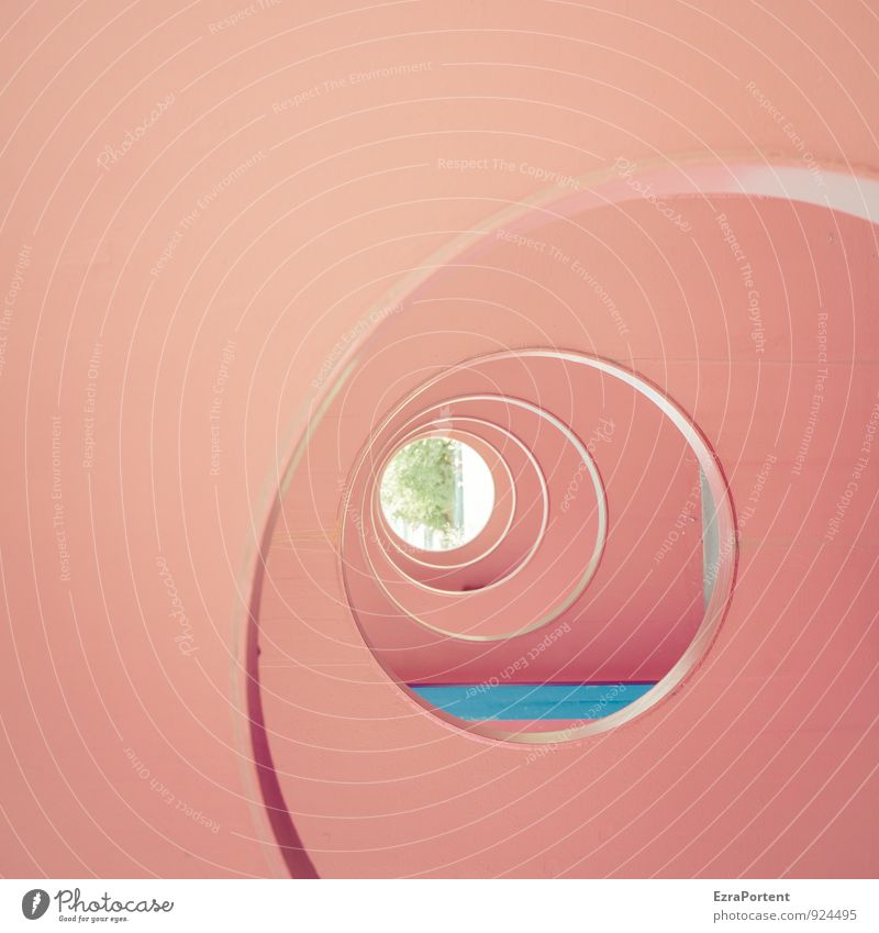 transparency Art Plant Tree House (Residential Structure) Tunnel Wall (barrier) Wall (building) Facade Concrete Blue Red Round Circular Circle Vista