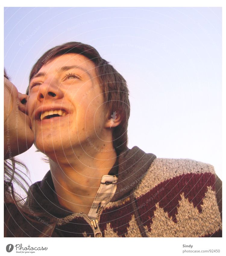 Woman Man Sky Joy Love Eyes Relaxation Happy Laughter Hair and hairstyles Couple 2 Together Nose Retro Teeth