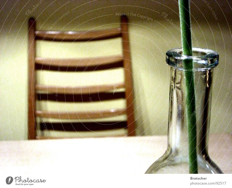 Flower Emotions Wood Sadness Wait Glass Table Empty Grief Chair Transience Longing Furniture Bottle Distress Goodbye