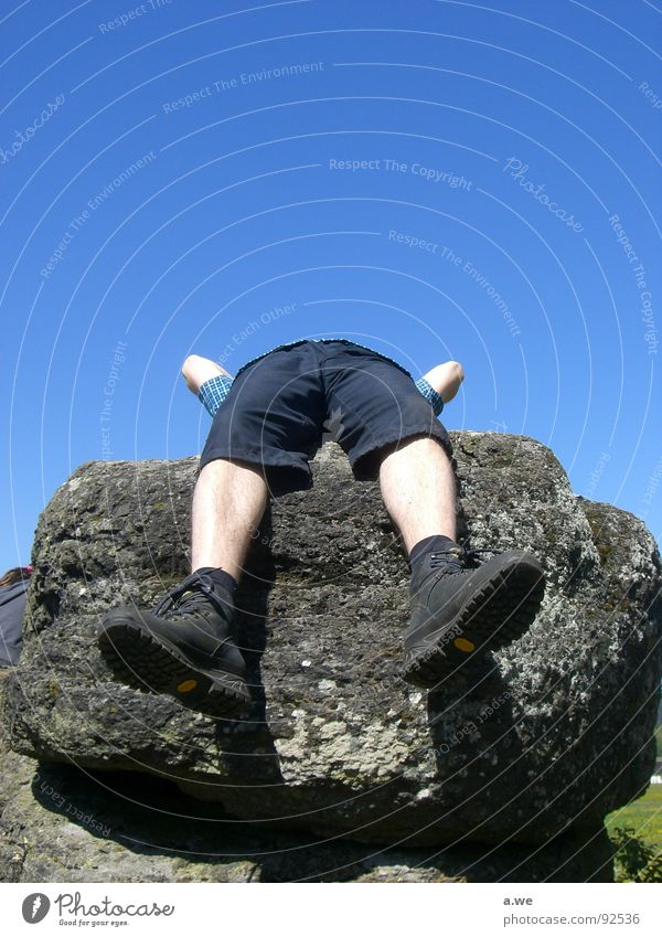 headless Relaxation Break Headless Joy Boredom Stone Sky Feet Legs Rotate Lie legroom slay asterix obelix