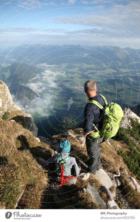 top Athletic Vacation & Travel Summer Mountain Hiking Sports Climbing Mountaineering Human being Masculine Child Man Adults Parents Family & Relations Infancy 2