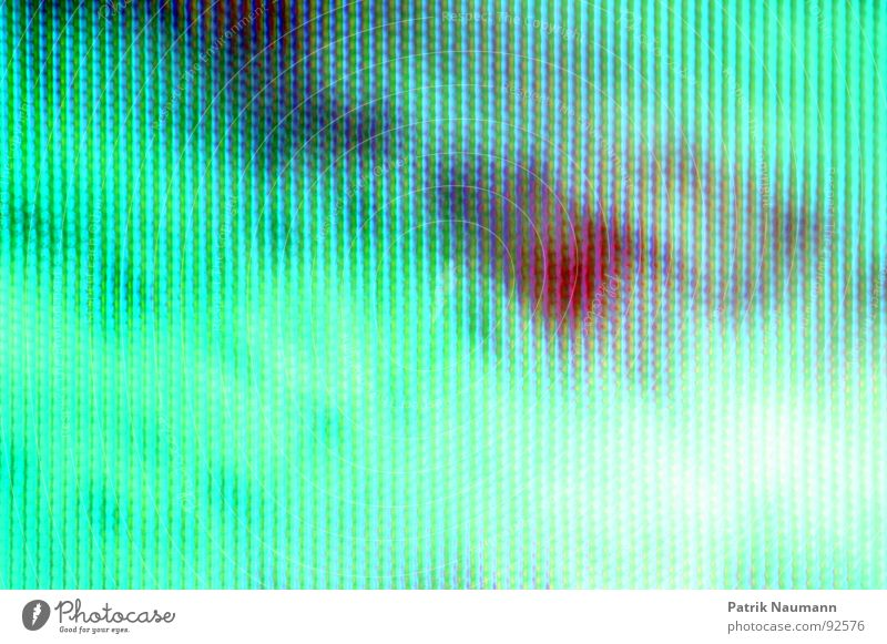 green focusing screen Television Impaired consciousness Green Turquoise Abstract Grid TV set Red Colour Detail Macro (Extreme close-up) captivating Irritation